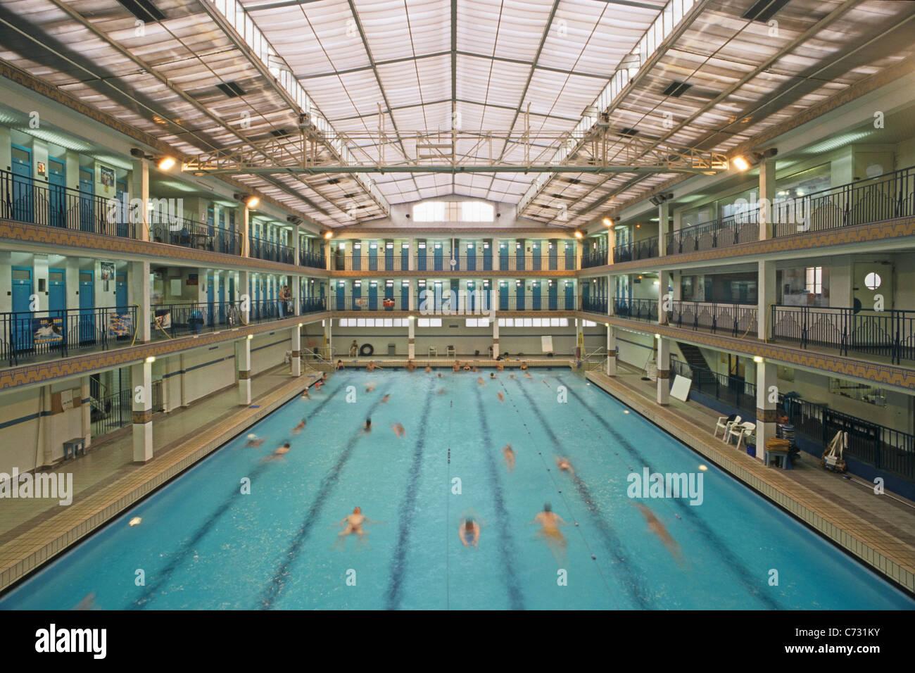 Swimming Pool Piscine Pontoise Architect Lucien Pollet 1930s Art Deco In The  Kieslowski Film Bleu 5e Arrondissement Paris France
