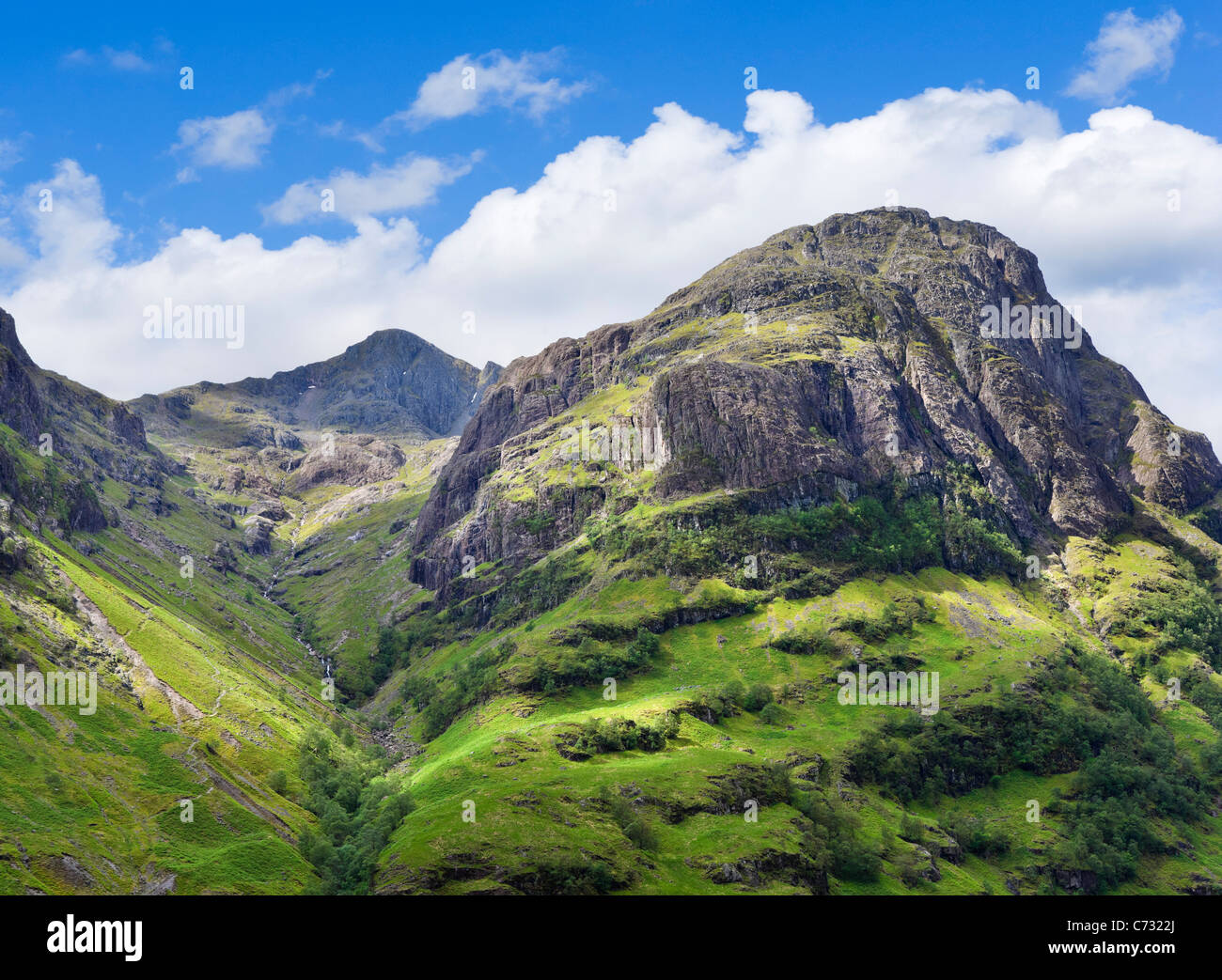Stob Coire nan Lochan with Aonach Dubh to the right, Glen Coe, Scottish Highlands, Scotland, UK - Stock Image
