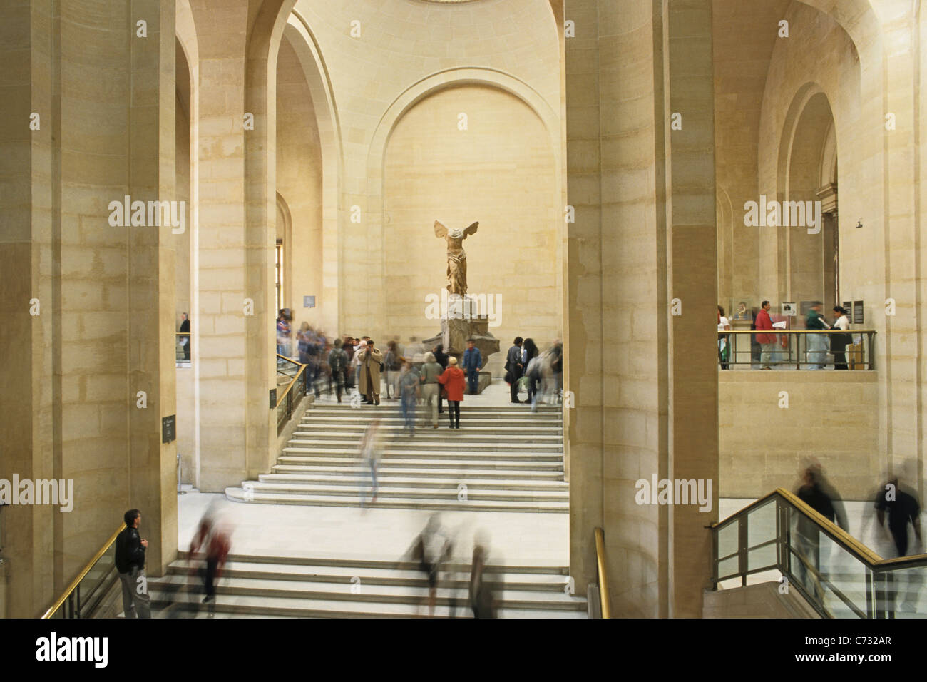 Winged victory of Samothrace, marble sculpture of a Greek Goddess, Louvre Museum, Paris, France Stock Photo