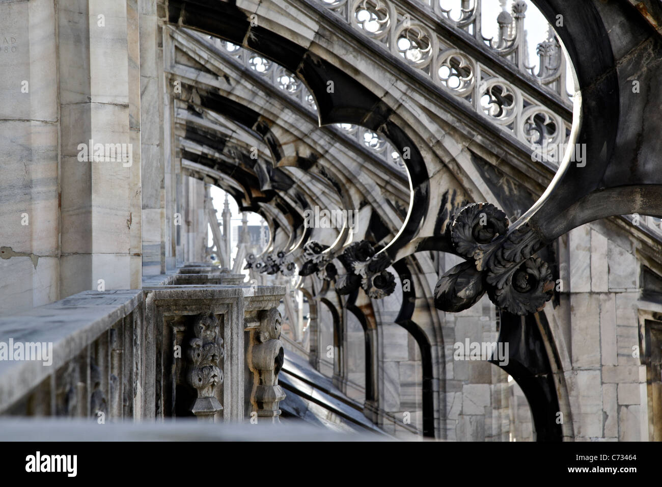 The roof of Milan Cathedral (Duomo di Milano) - Stock Image