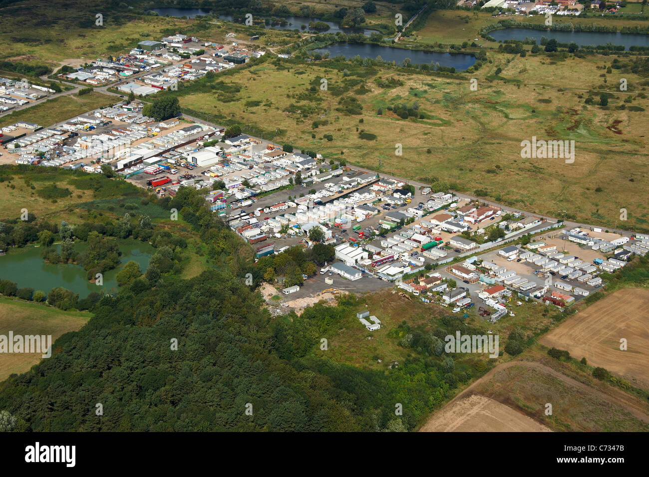 Dale Farm Travellers Site, Essex, South East England - Stock Image