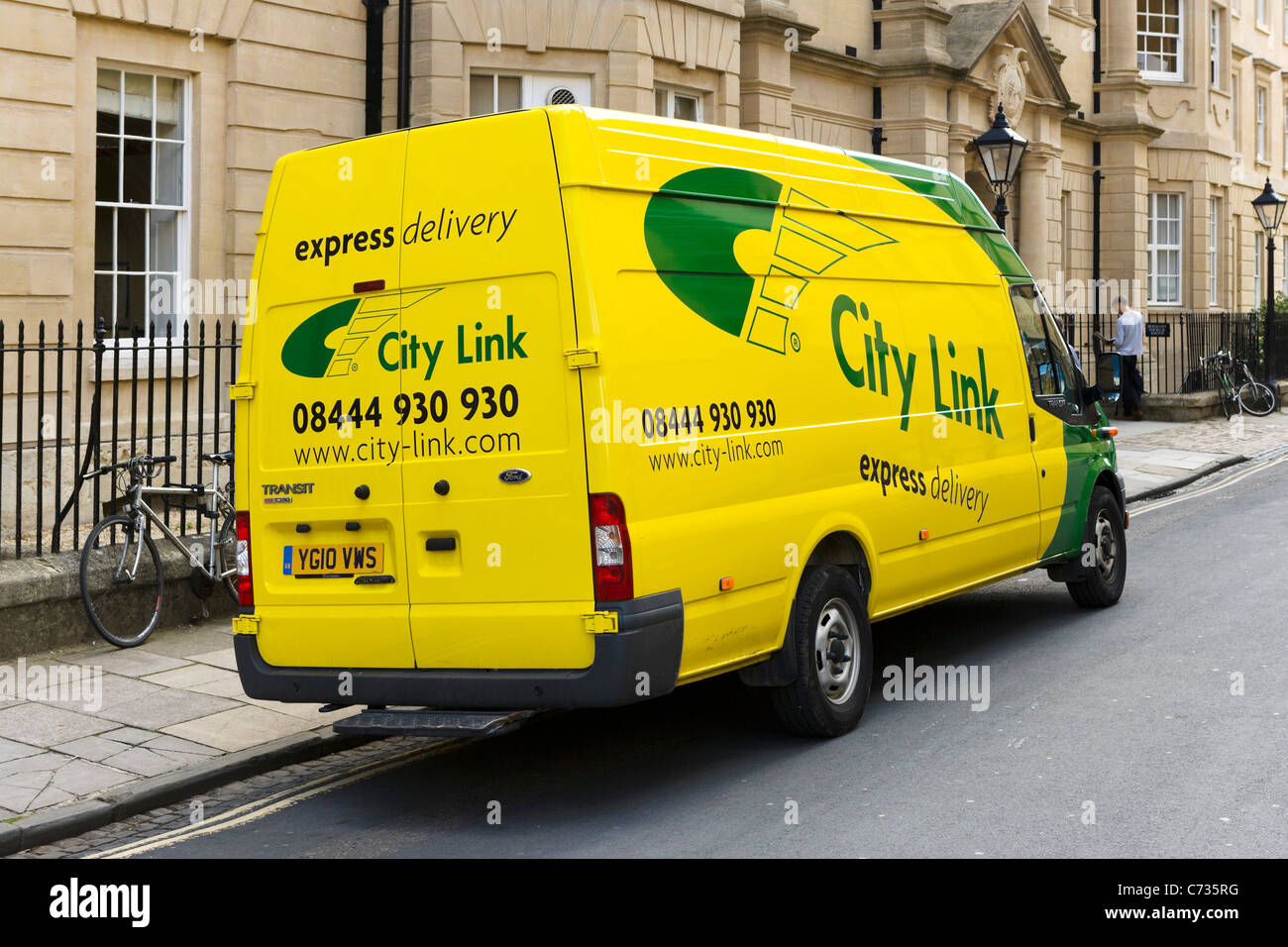 City Link delivery van in Oxford city centre, Oxfordshire, England, UK - Stock Image
