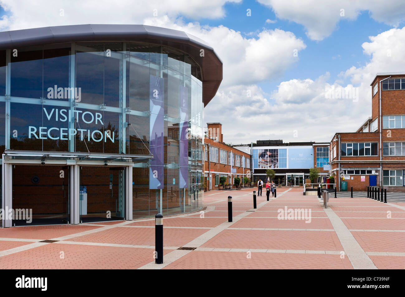 The Wedgwood Museum and Visitor Centre at the Wedgwood factory in Barlaston, Stoke-on-Trent, Staffordshire, England, - Stock Image