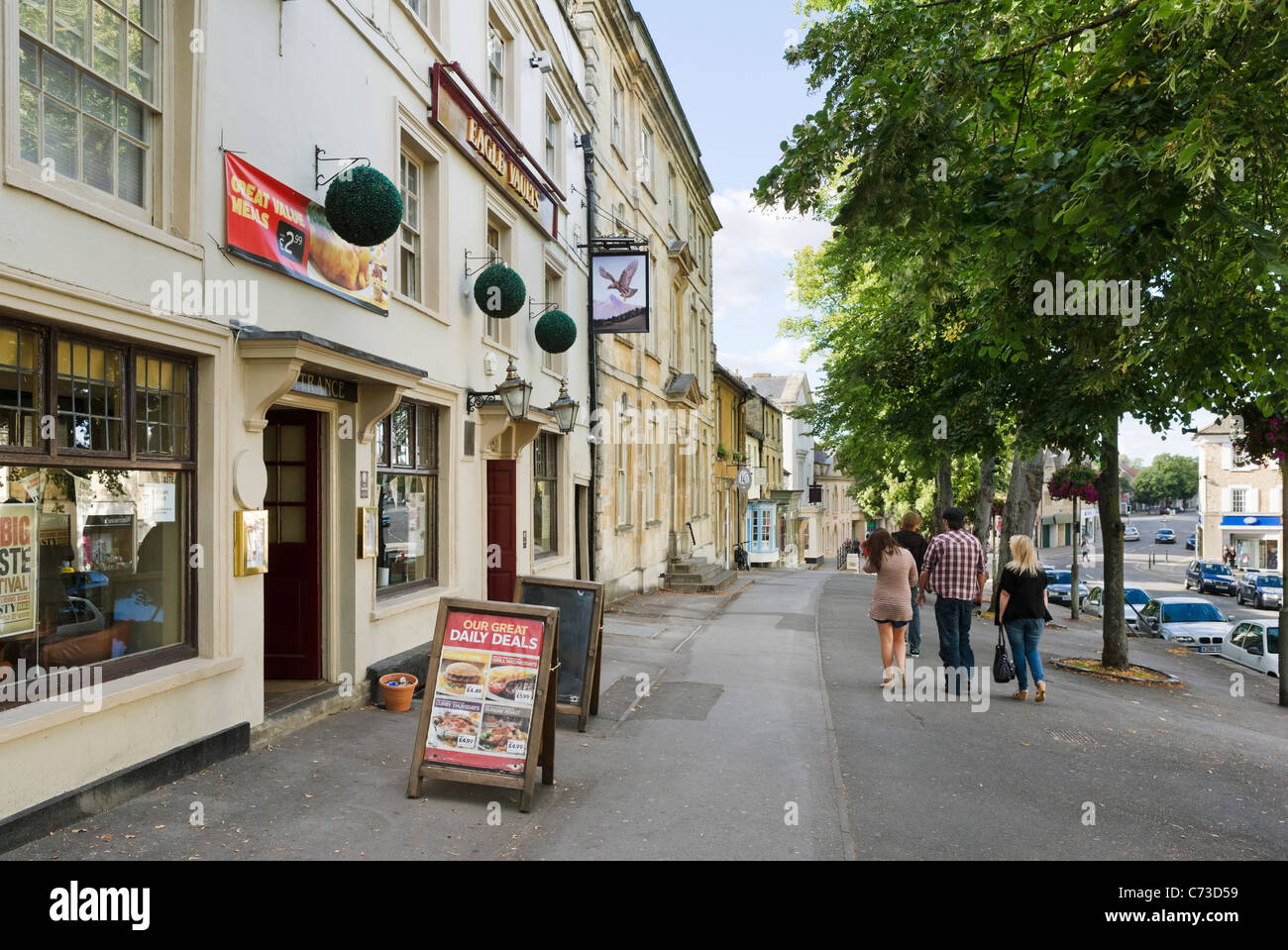 Eagle Vaults Pub on the High Street in Witney, Oxfordshire, England, UK - Stock Image