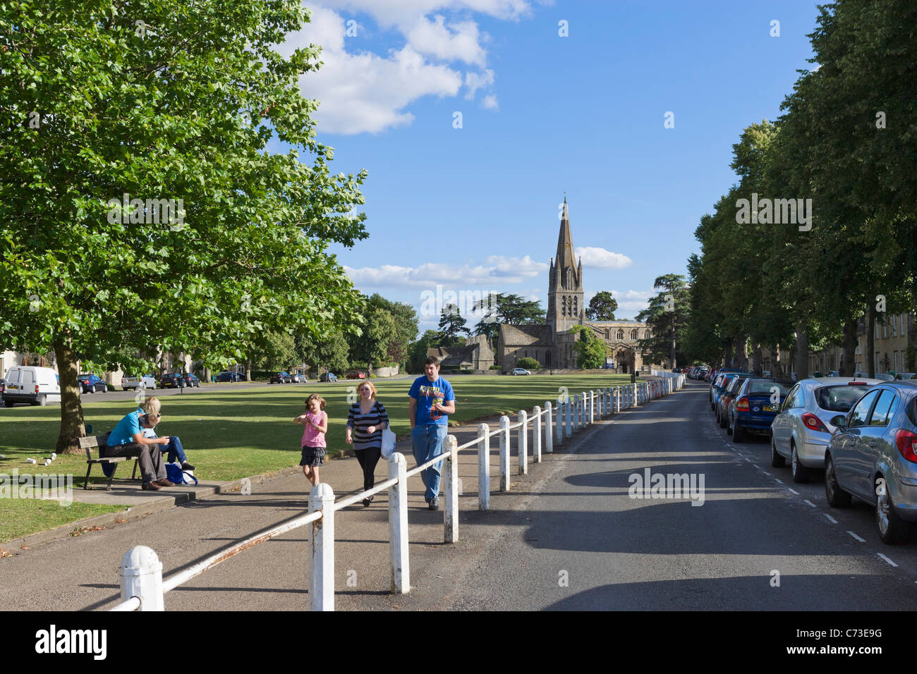 Church Green in the centre of Witney, Oxfordshire, England, UK - Stock Image