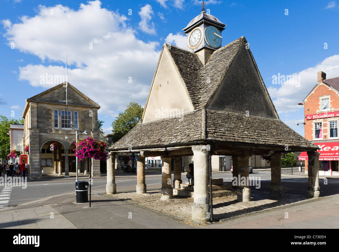 The Buttercross in Market Square in the centre of Witney, Oxfordshire, England, UK - Stock Image