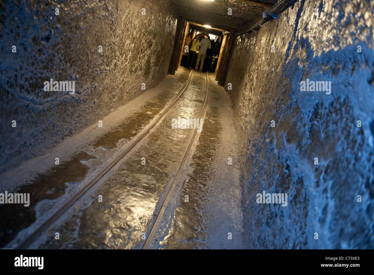 Salt mine train tract in Poland - Stock Image