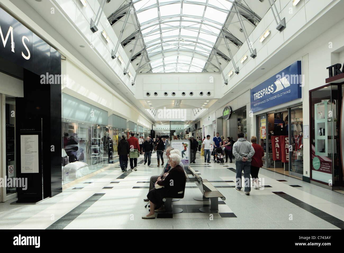 The Thistles shopping centre Stirling Scotland - Stock Image