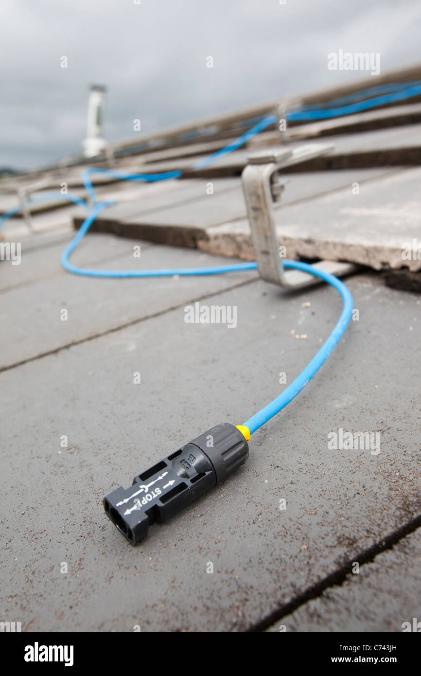 Household Wiring Uk Stock Photos Images Colours Grey A Roof Being Prepared To Fit Solar Panels Ambleside Image