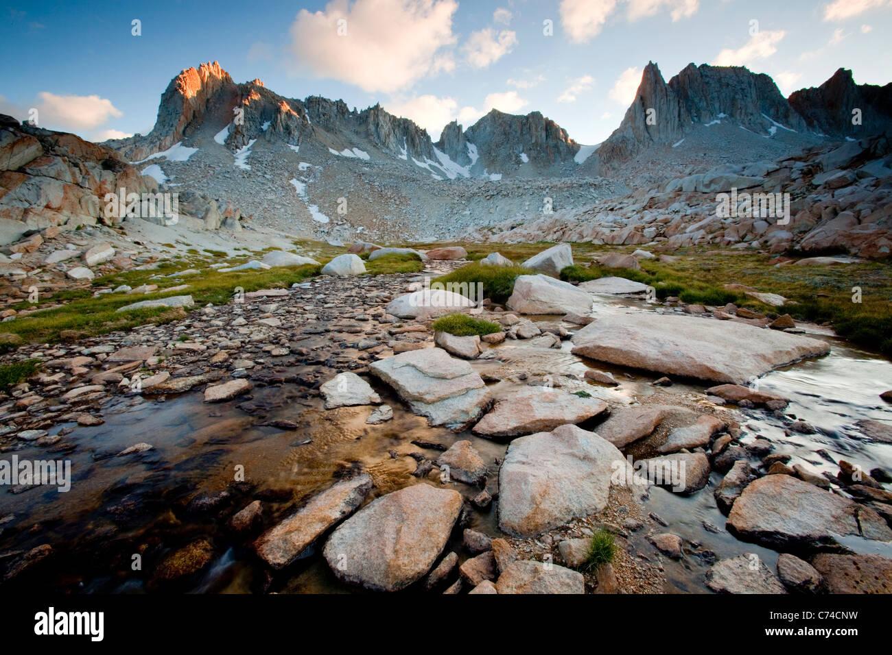 Sierra Nevada mountain range in California - Stock Image