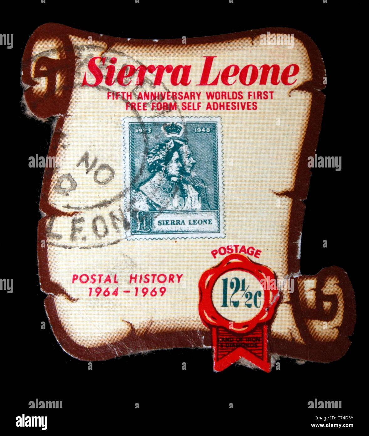 Sierra Leone design stamps shaped and rare - Stock Image