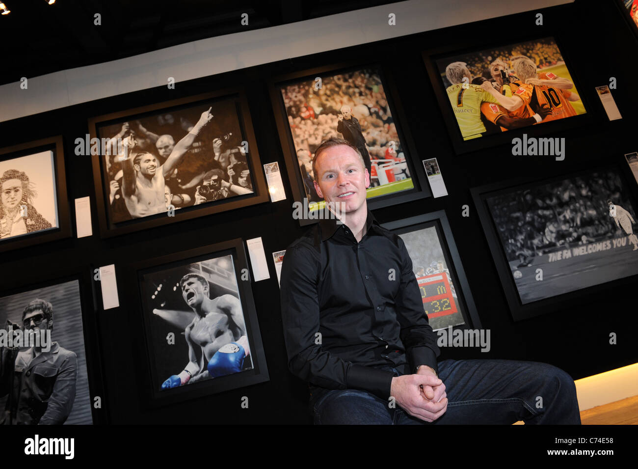 Footballer Jody Craddock at the launch of his Art Exhibition at Wolverhampton's Castle Gallery. - Stock Image