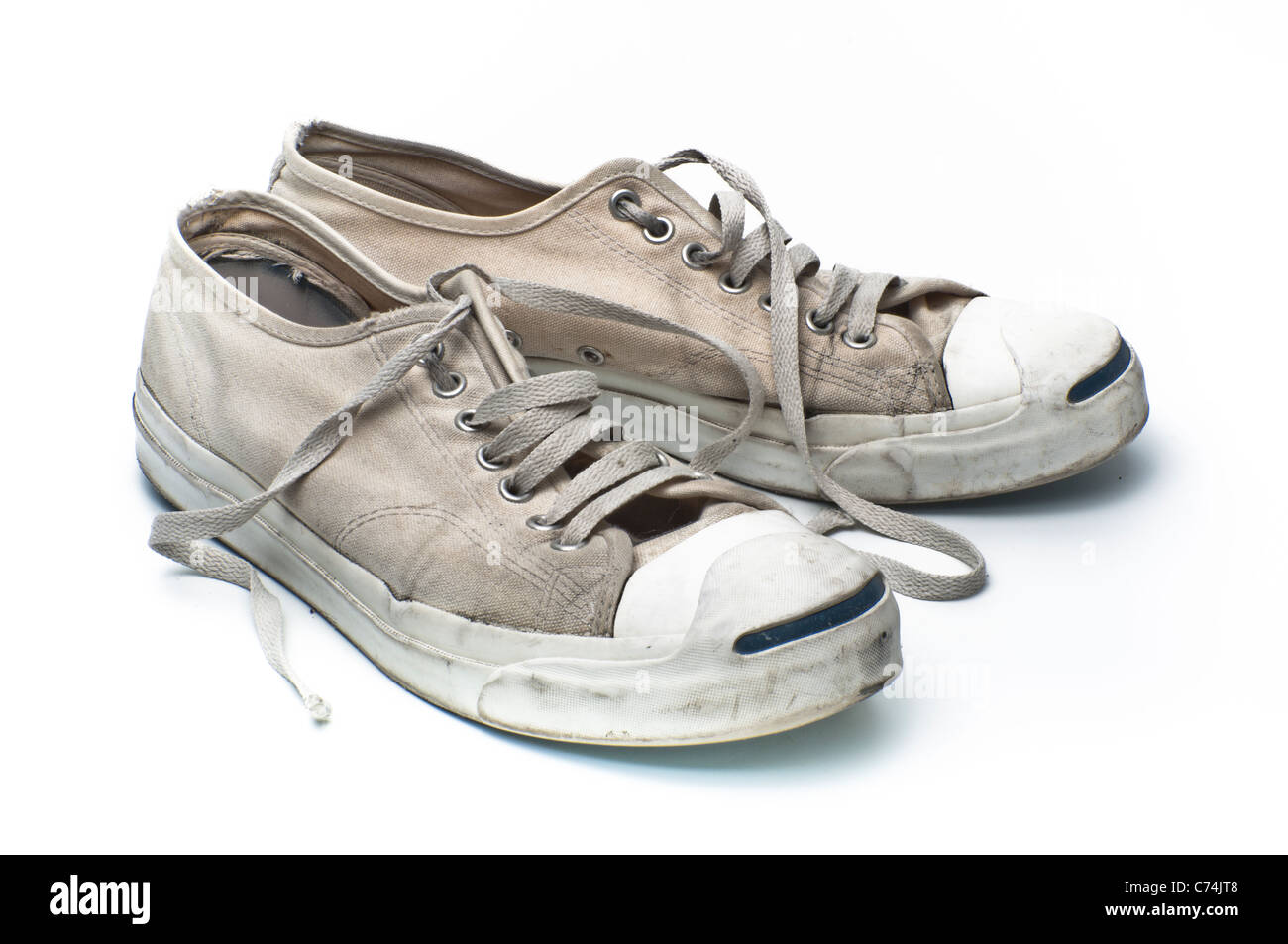 b49a2151a9e9 Converse Jack Purcell tennis shoes on a white background PHILLIP ROBERTS -  Stock Image