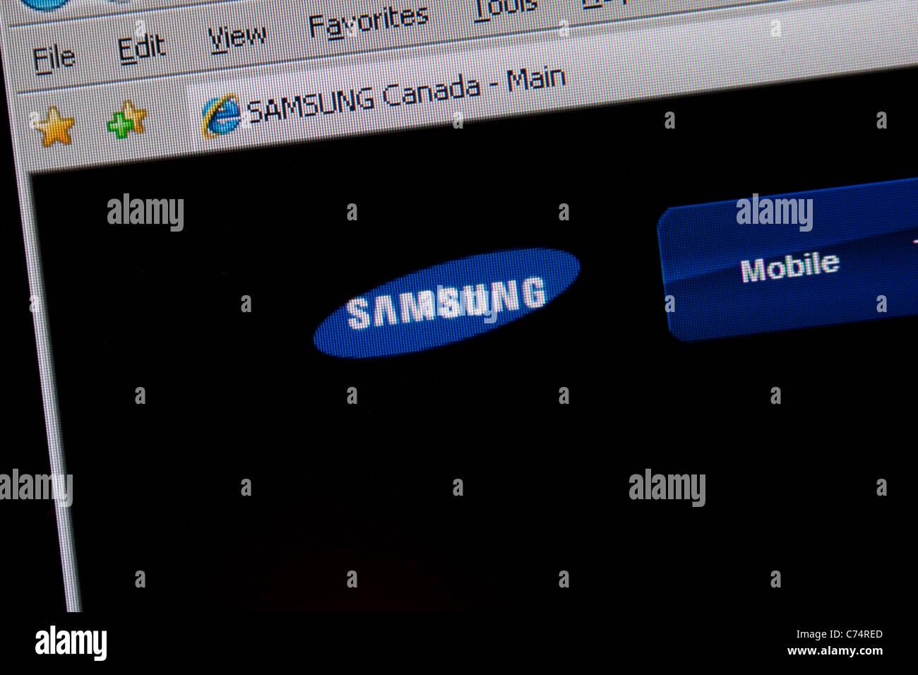 samsung logo website - Stock Image