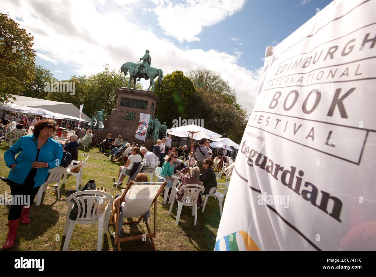 the annual Edinburgh International Book Festival, Charlotte Square, Edinburgh, Scotland. - Stock Image