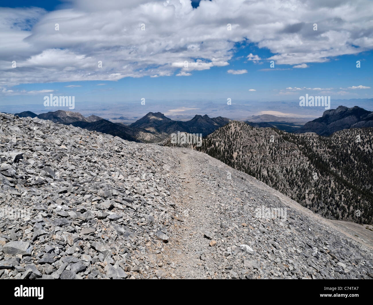 mt charleston trail 11 900 foot elevation just 30 miles from las stock photo alamy alamy