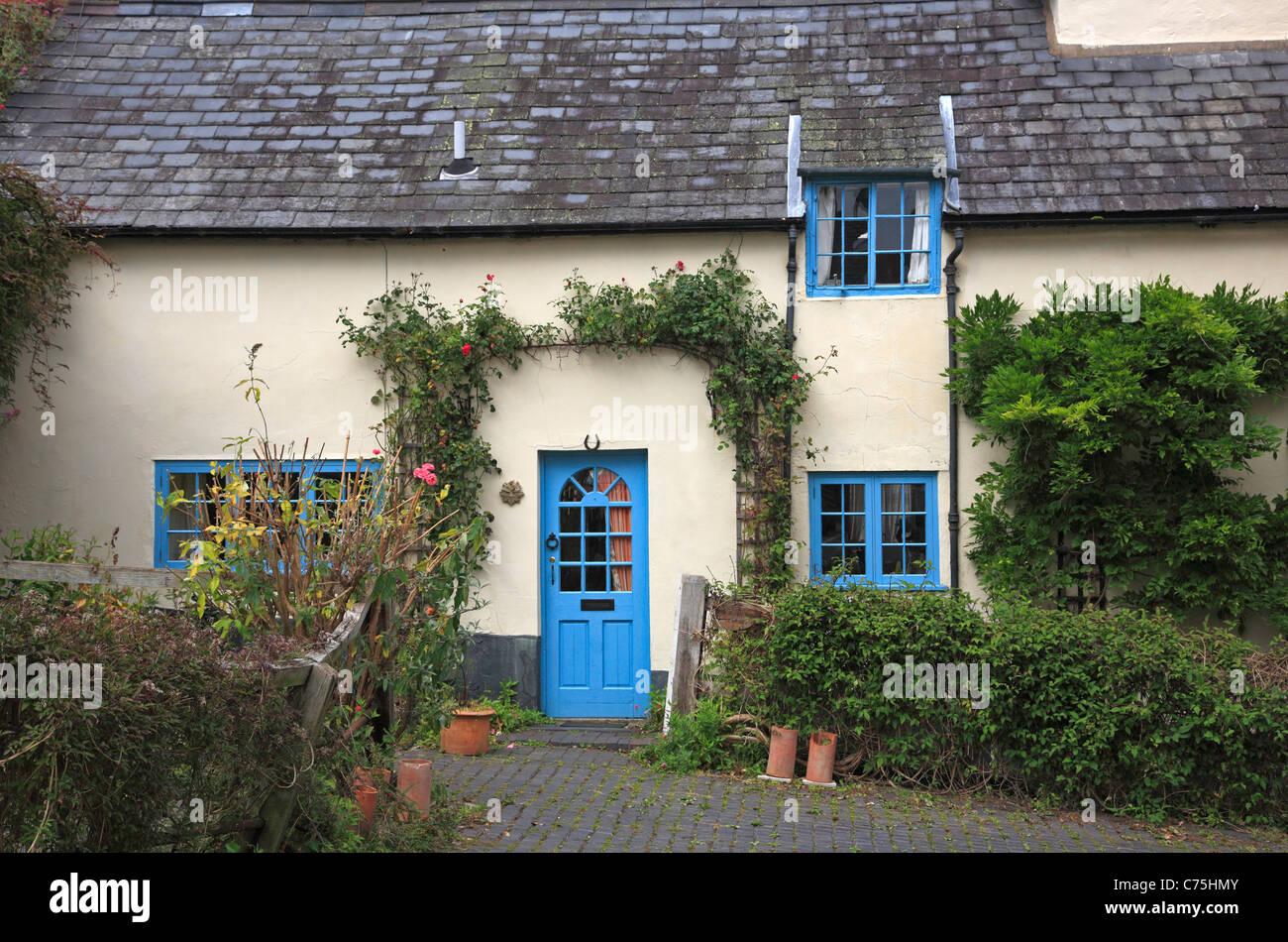 Period Cottage Montgomery Powys Mid Wales UK United Kingdom EU European Union Europe Stock Photo