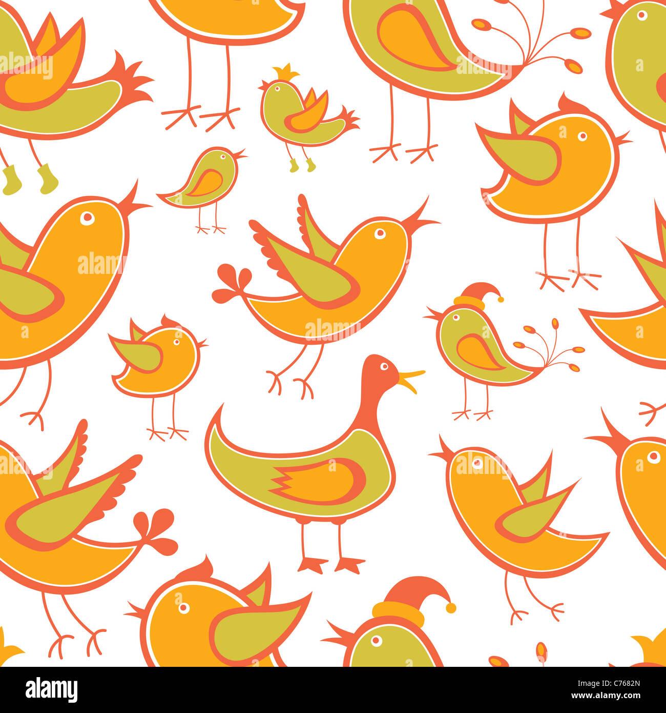Seamless Bird Background or Wallpaper - Stock Image