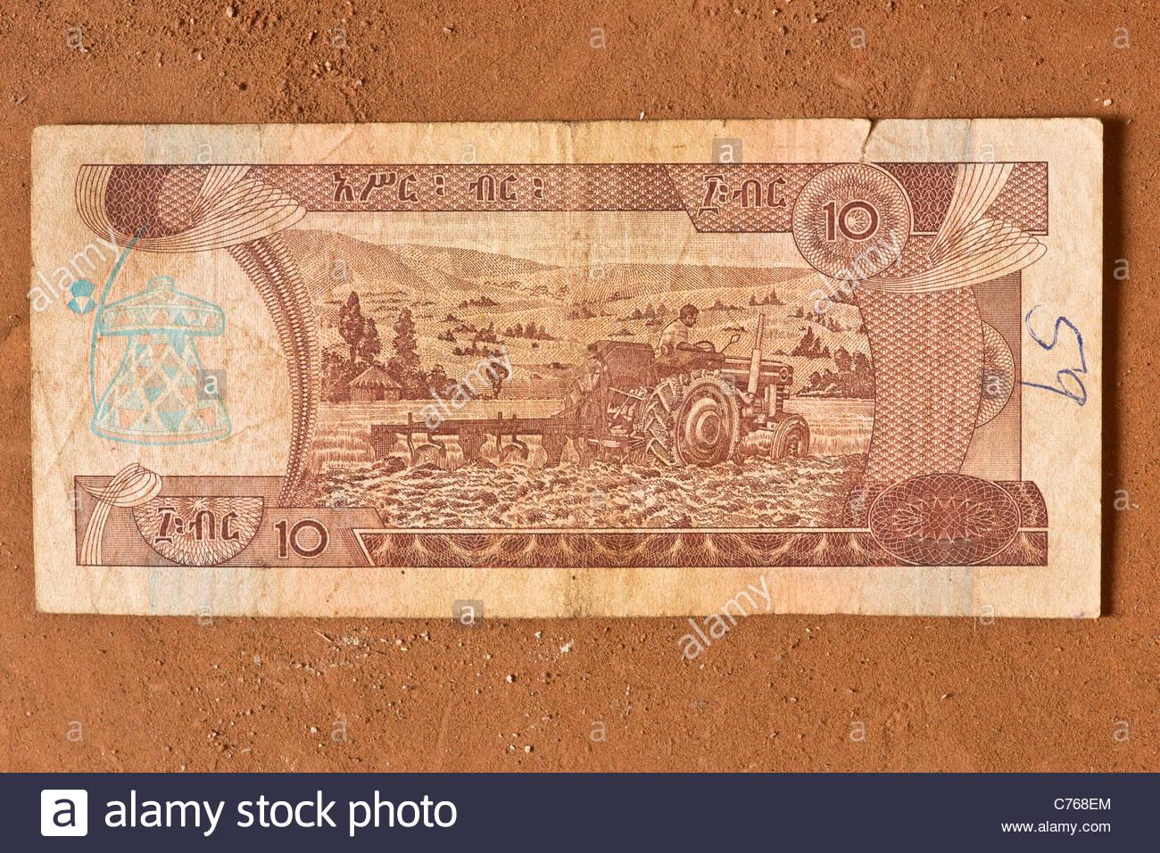 African Money Cash Banknote Ethiopian Birr Ethiopia Africa Etb