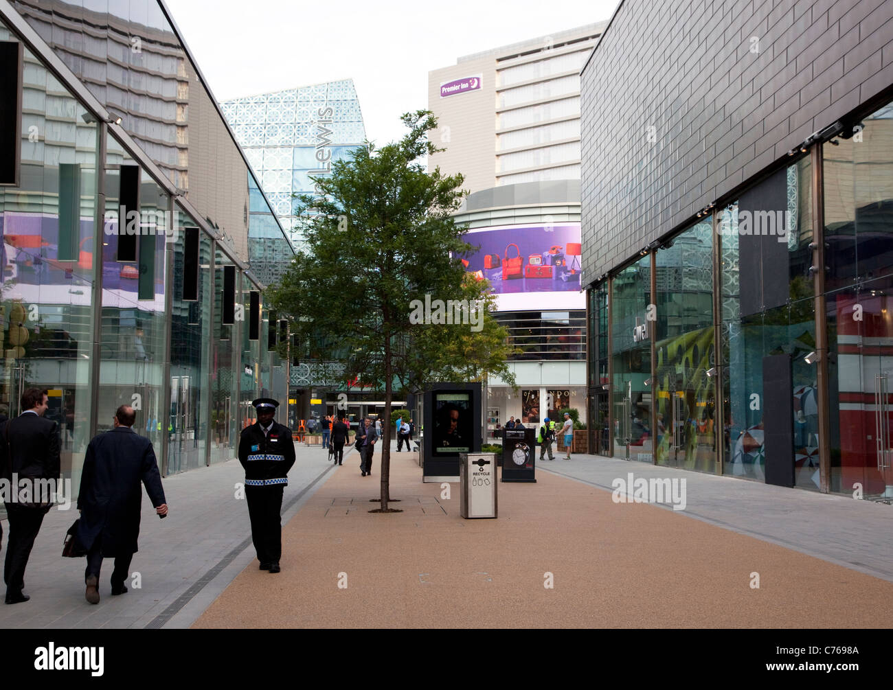 Westfield Stratford City shopping centre, London Stock Photo