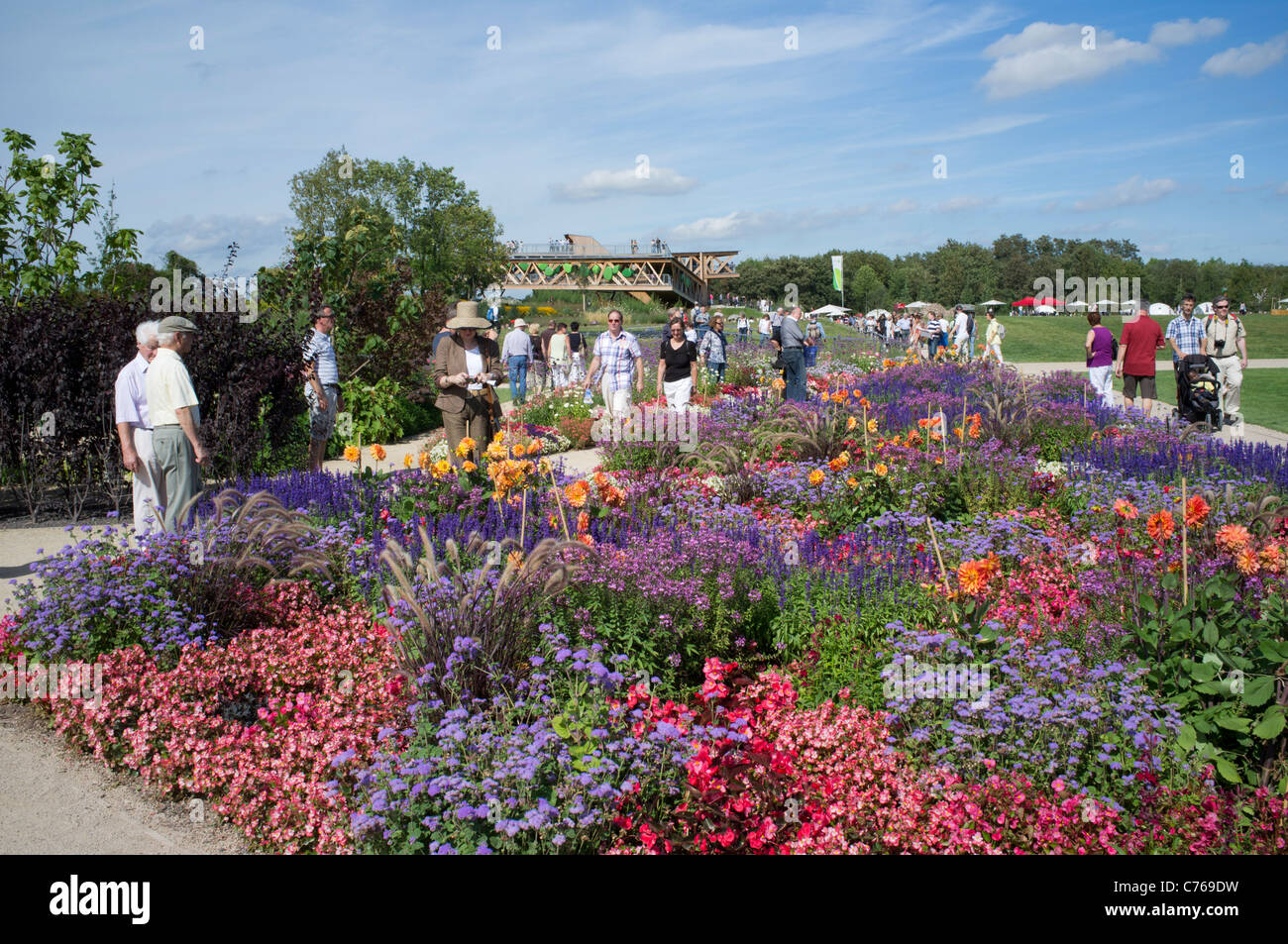 The Federal Horticultural Show or BUGA Bundesgartenschau held in Koblenz Germany 2011 - Stock Image