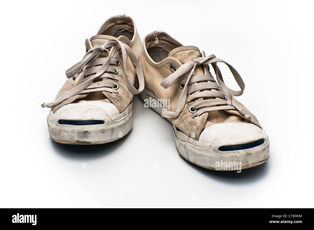 Converse Jack Purcell tennis shoes on a