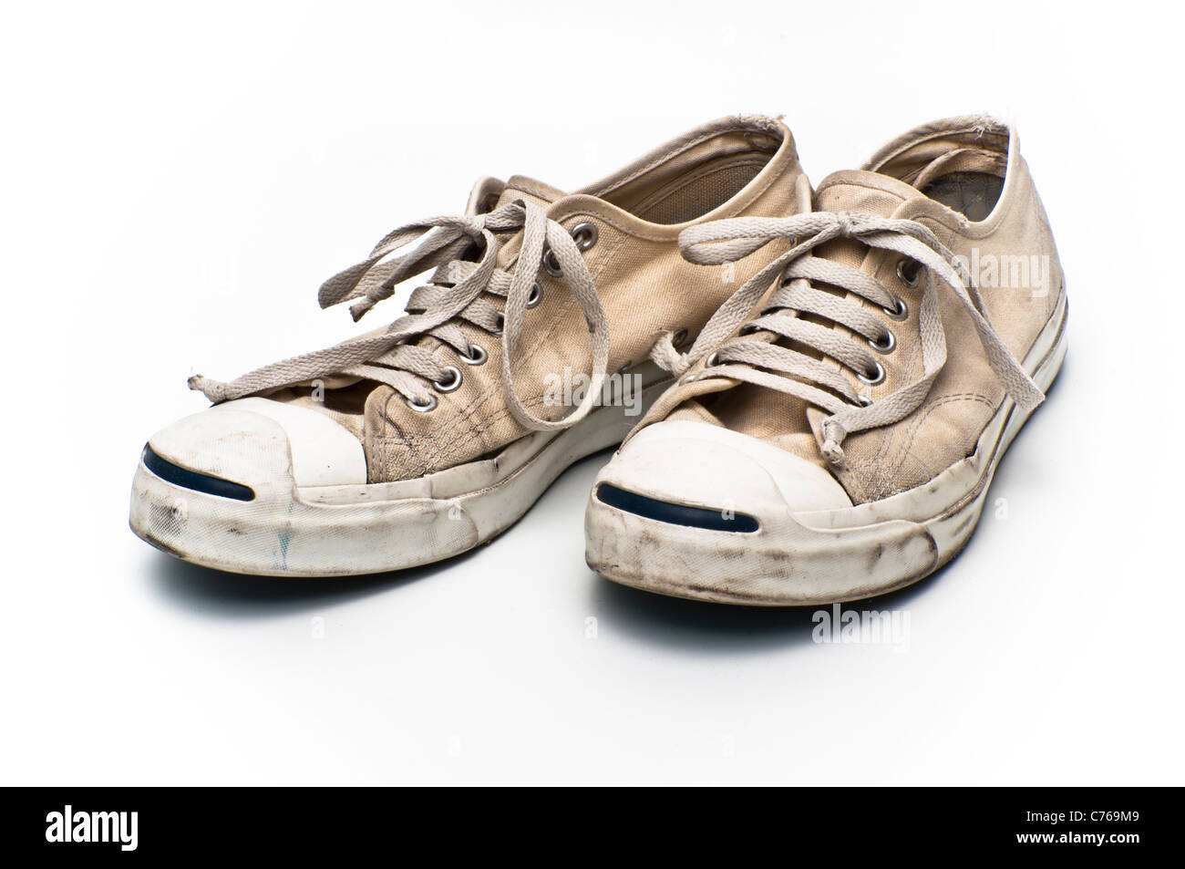 190b2ba9571235 Converse Jack Purcell tennis shoes on a white background Stock Photo ...