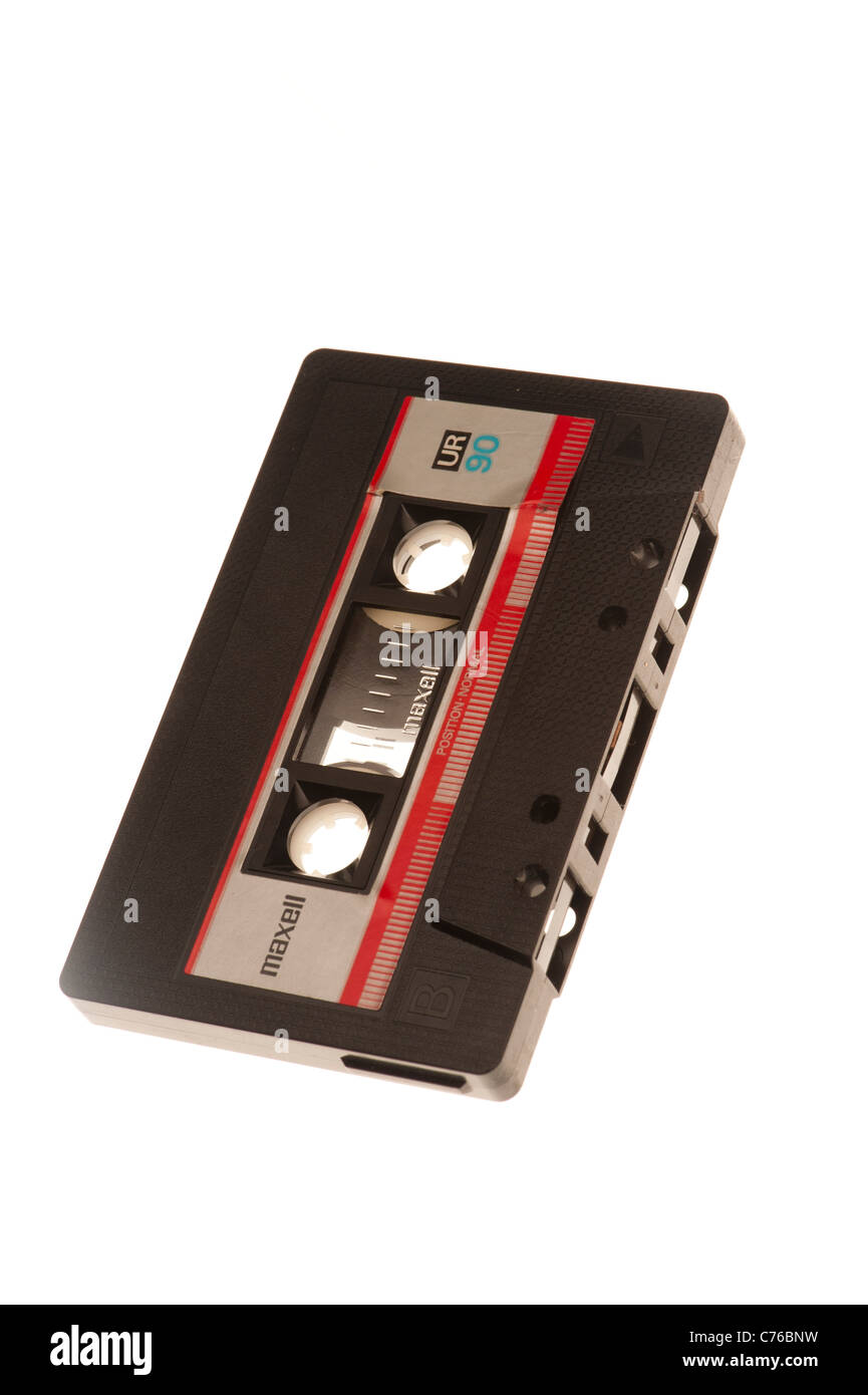 Old C90 audio cassette tapes Stock Photo