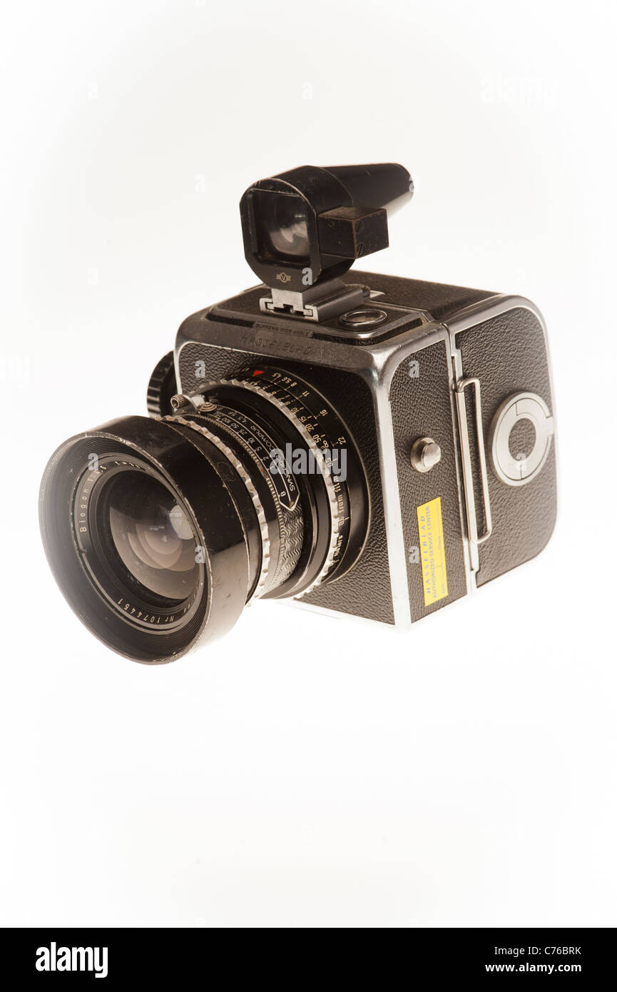 An original 1954 hasselblad supreme wide angle Classic camera. 120 medium format film - Stock Image