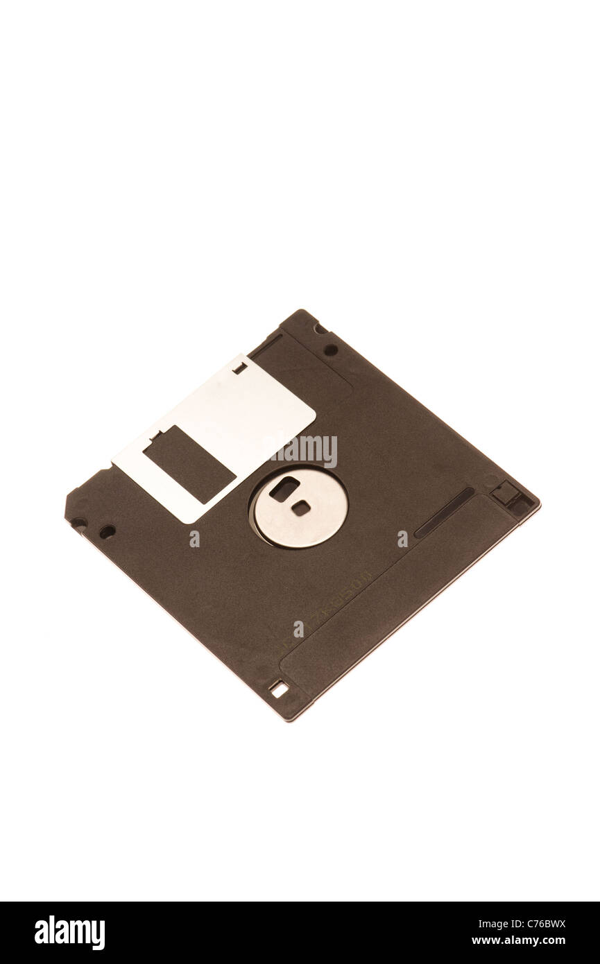a 3.5 inch floppy computer disk - Stock Image