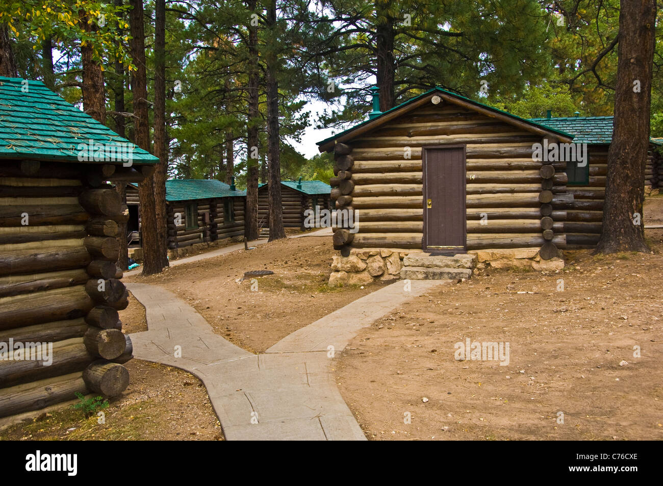 grand cabins canyon in lodge frontier stock photo north rim