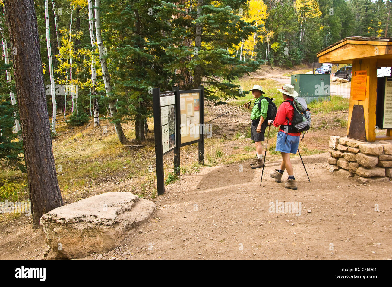 Kaibab Trail on the North Rim of the Grand Canyon National Park. Arizona. - Stock Image