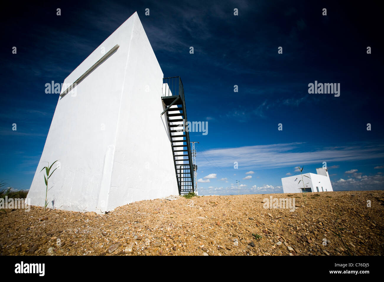 Cube-shaped houses in the country, Isla Mayor, Spain Stock Photo