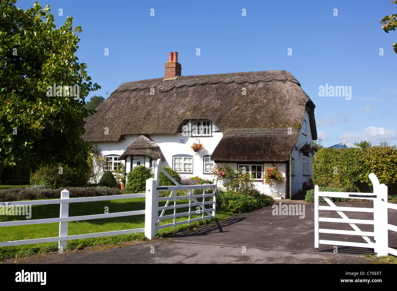 Picturesque Thatched Cottage Allington near Devizes in Wiltshire - Stock Image
