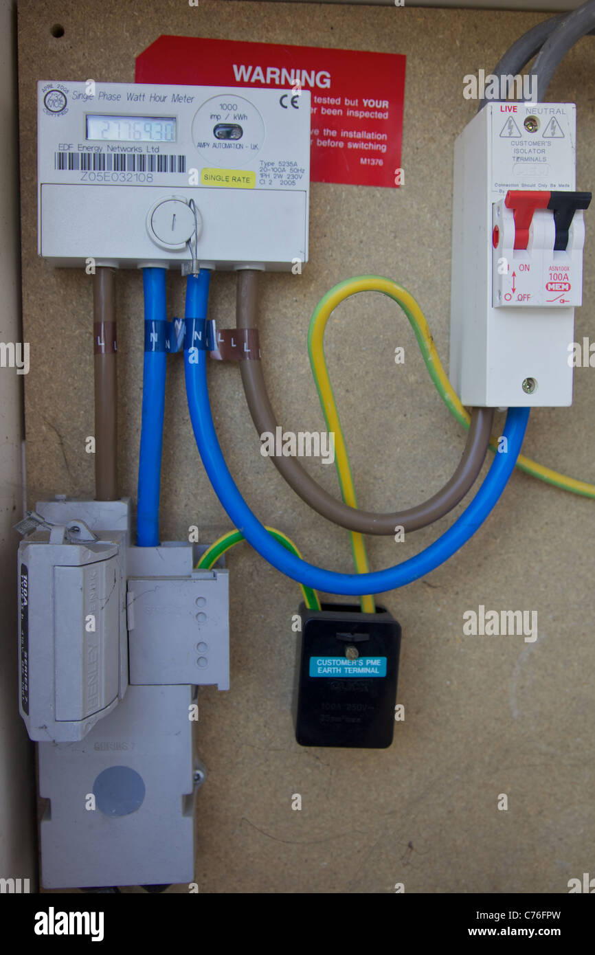 A Domestic Electricity Supply England C Fpw on Electric Meter Box Installation