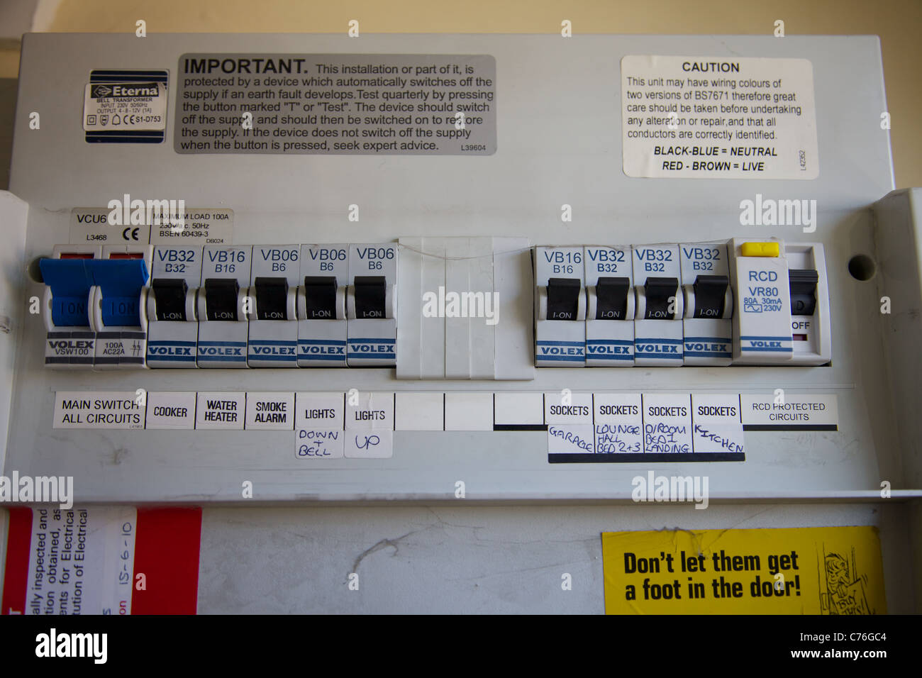 Domestic Fuse Box Stock Photos & Domestic Fuse Box Stock ... on
