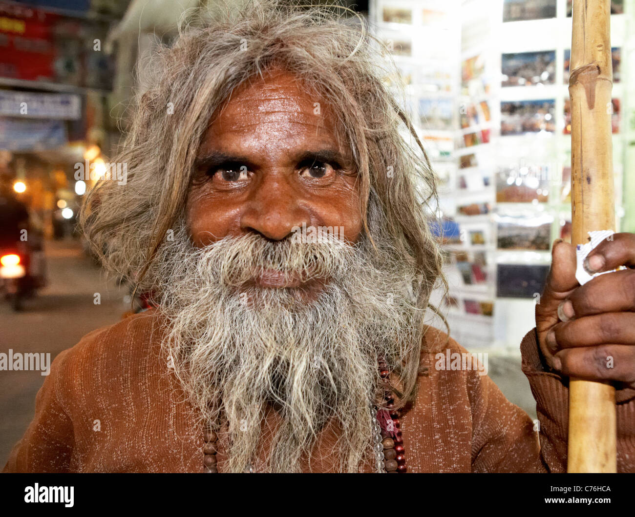 Indian Sadhu  Pushkar Rajasthan India - Stock Image