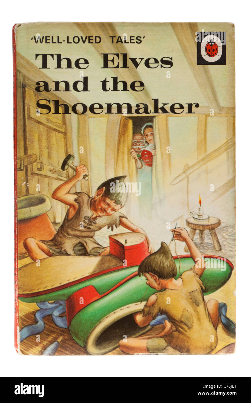 Vintage 1960's Ladybird book 'The Elves and the Shoemaker', from the 'Well-Loved Tales' series - Stock Image