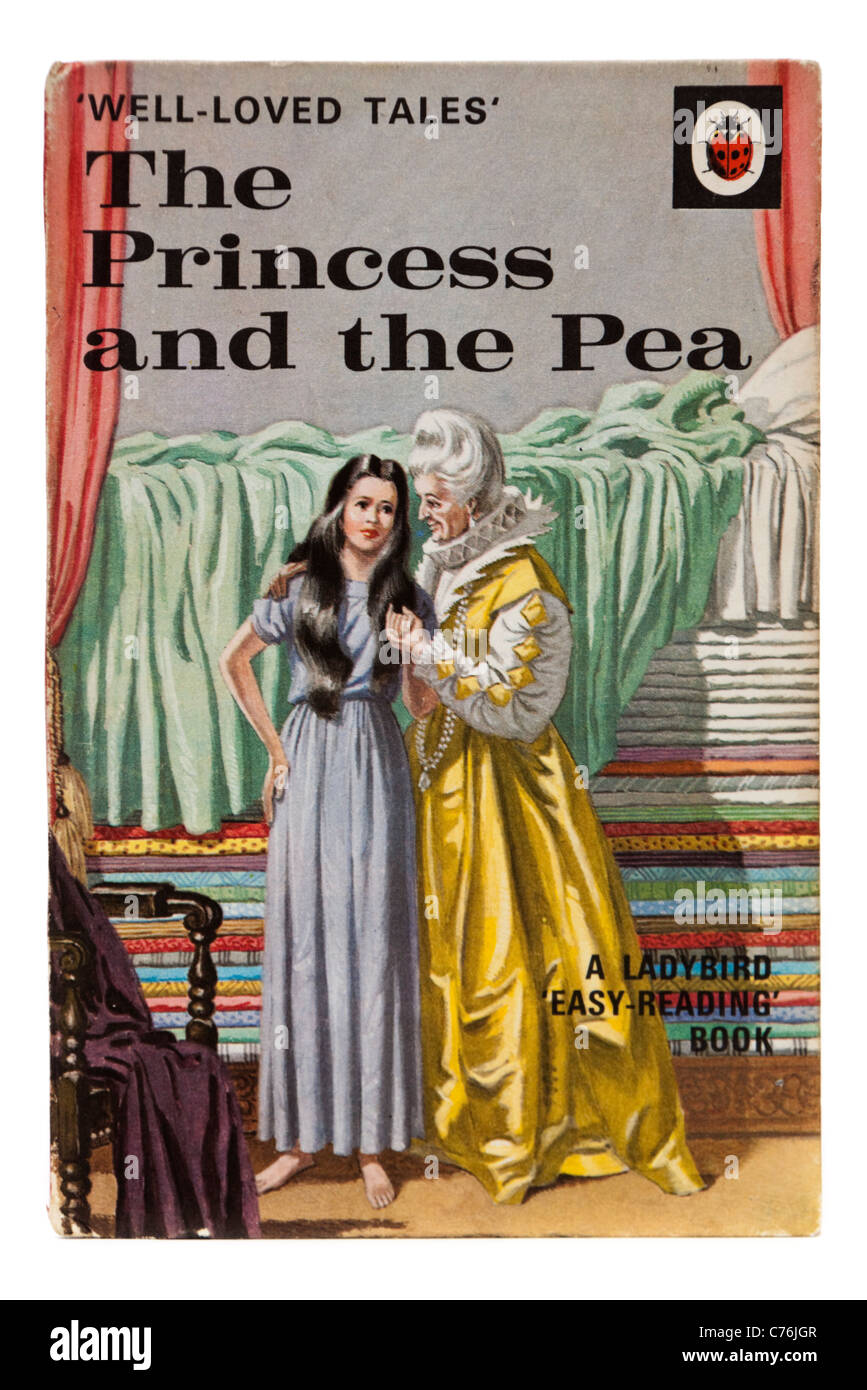 Vintage 1960's Ladybird book 'The Princess and the Pea', from the 'Well-Loved Tales' series - Stock Image
