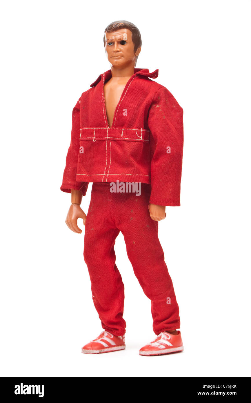 Steve Austin, the Six Million Dollar Man with bionic arm and eye (Kenner Products, 1975) - Stock Image