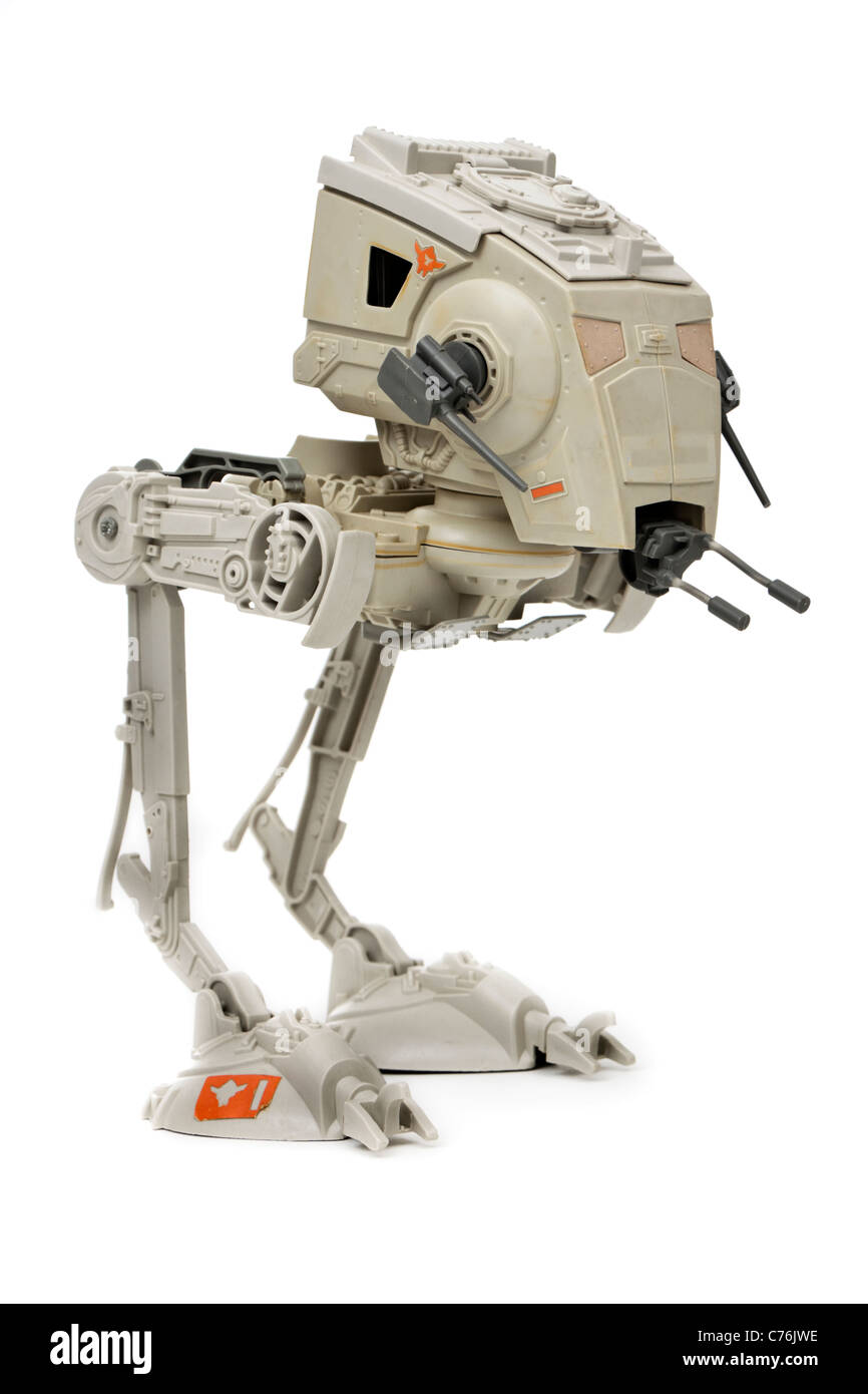Star Wars AT-ST walker (All Terrain Scout Transport) by Kenner (1983) - Stock Image