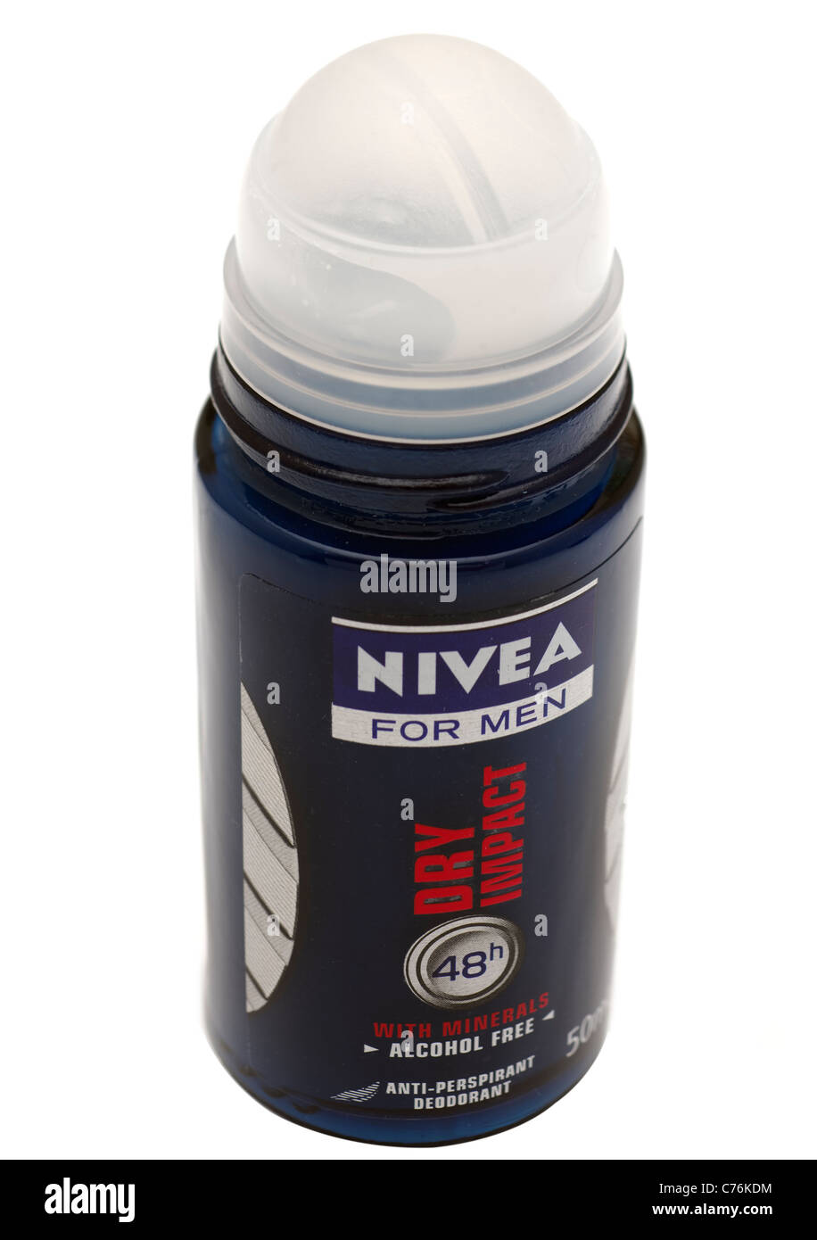 Underarm deodorant Nivea for men roll on - Stock Image