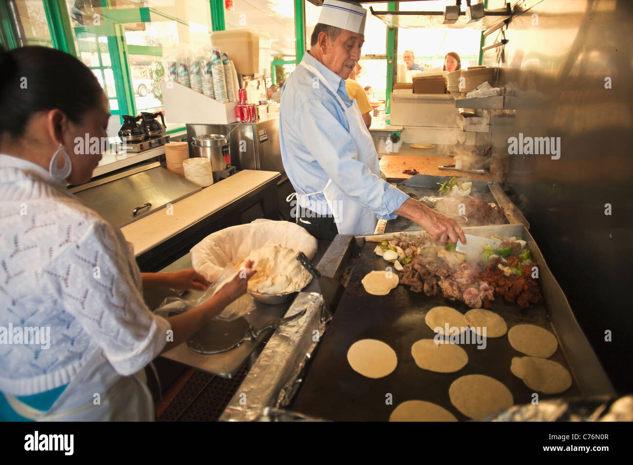 La Super Rica Taqueria, Santa Barbara, California, United States of America Stock Photo