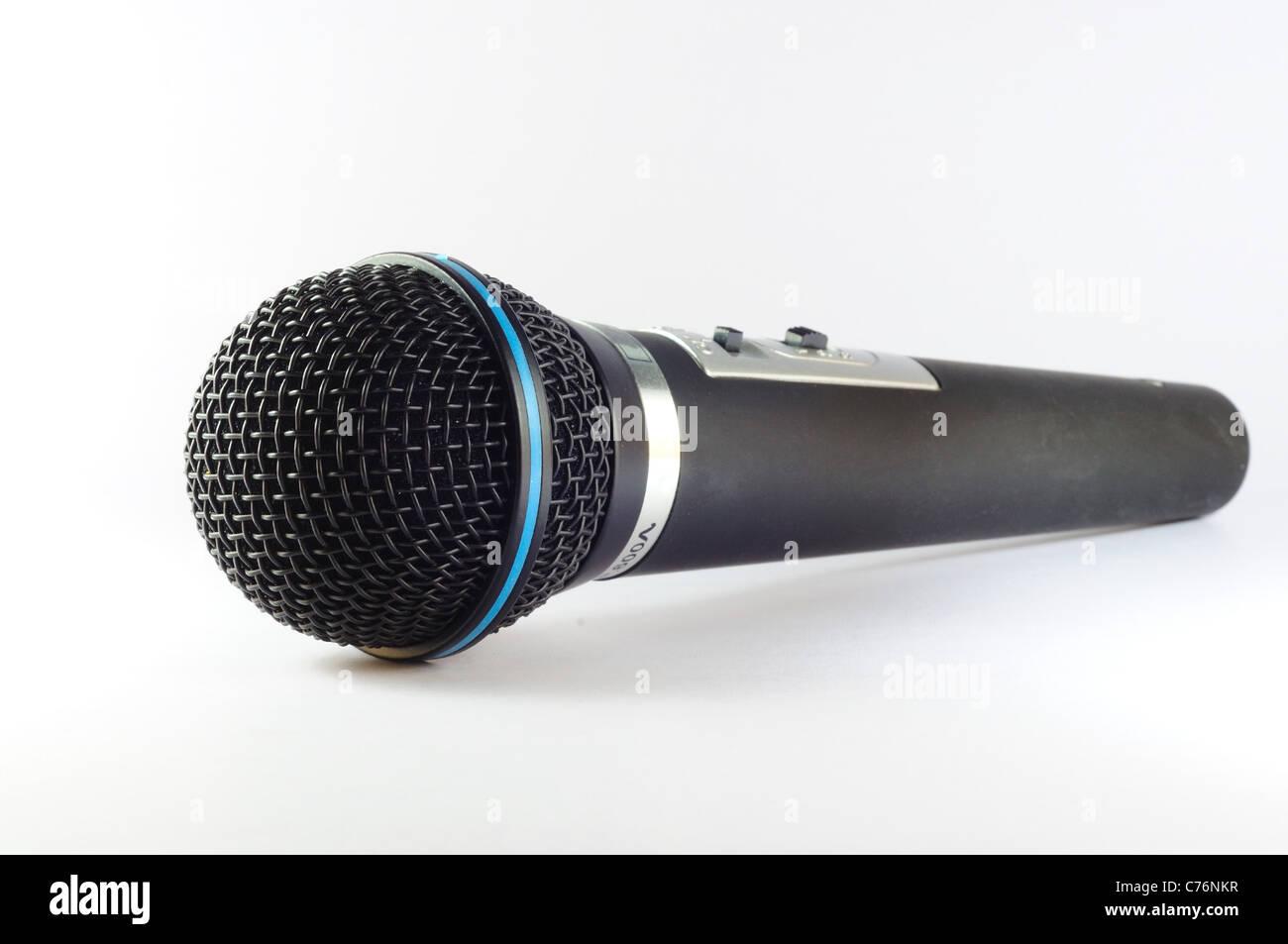 black microphone - Stock Image