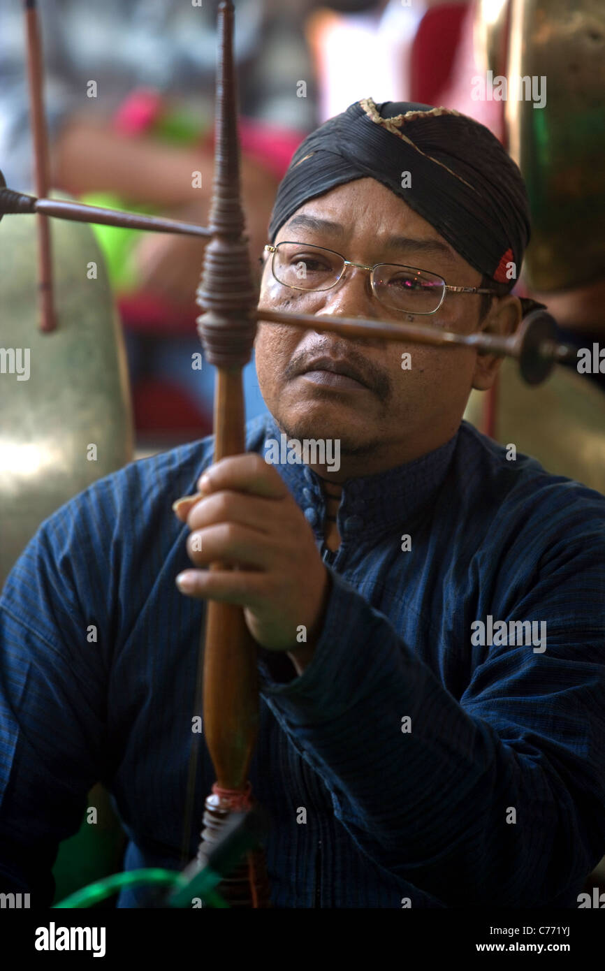 Traditional Music from Central Java - Stock Image