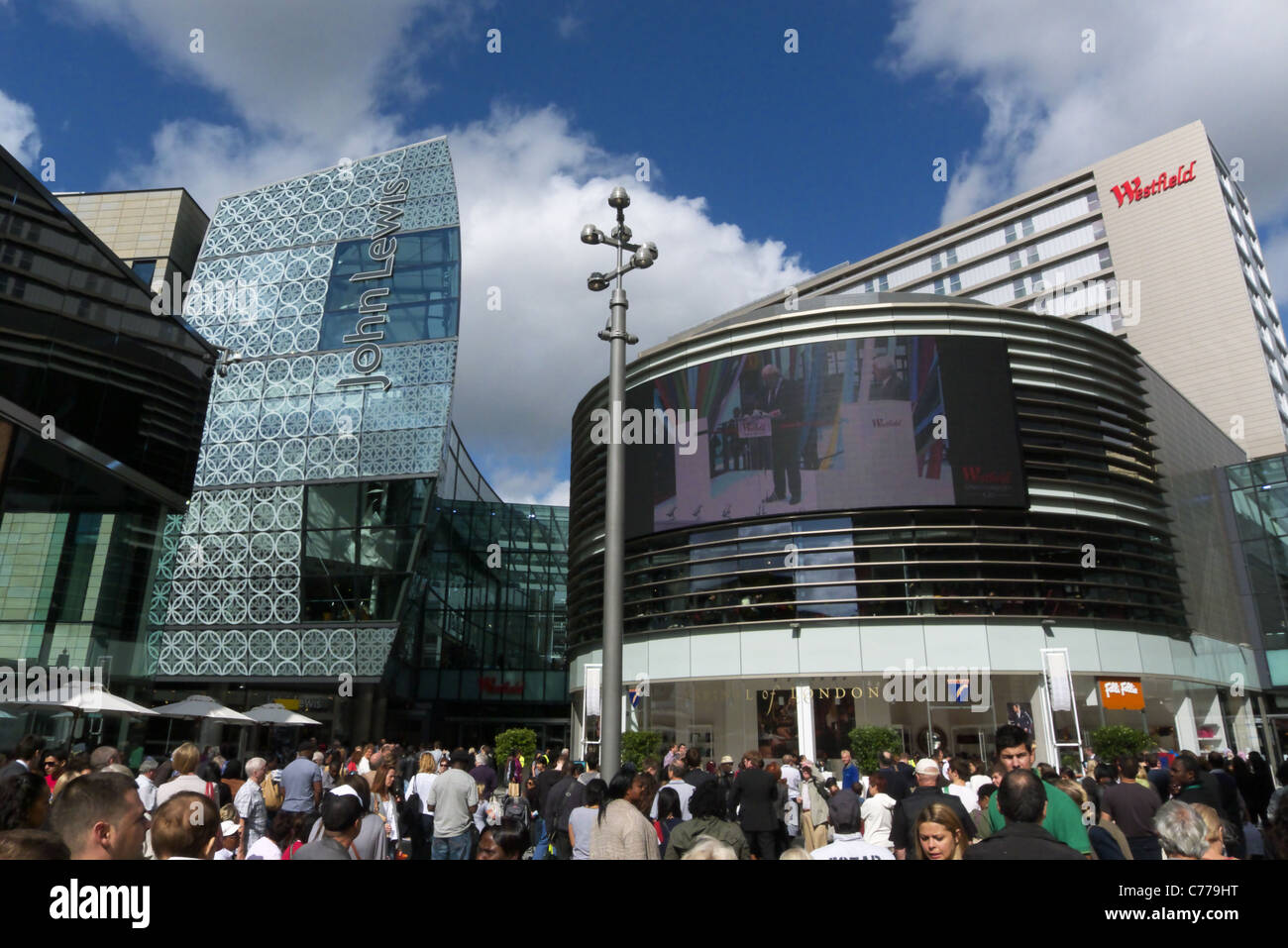 Westfield shopping Centre Stratford Stock Photo