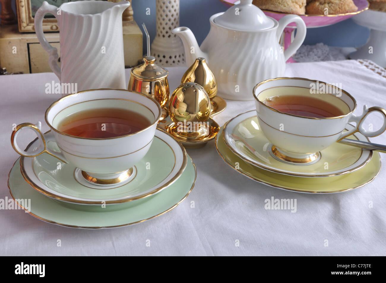 Afternoon tea setting - Stock Image