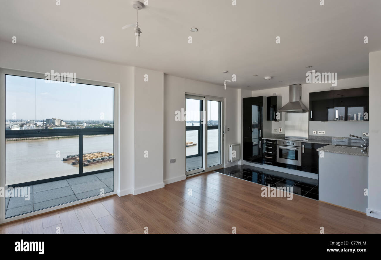 City Peninsula apartments in Greenwich, London. - Stock Image