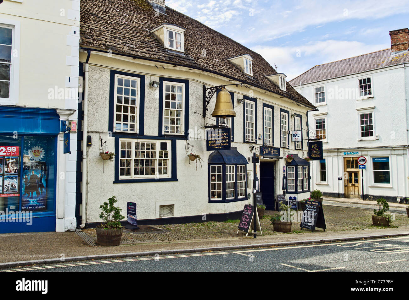 The Bell Hotel in Faringdon Oxfordshire England UK - Stock Image