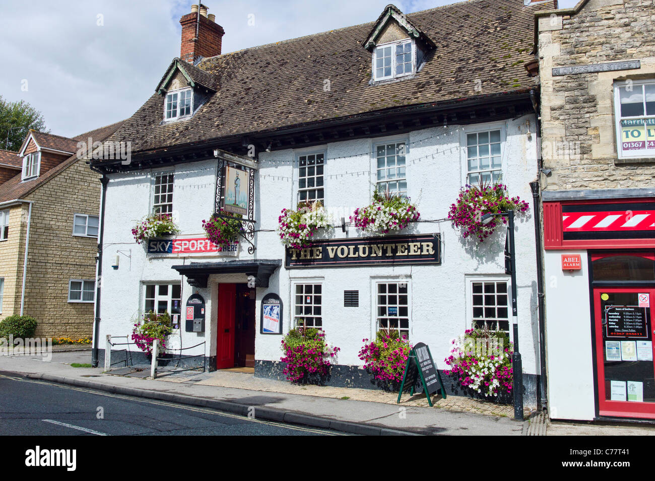 The Volunteer inn in Faringdon Oxfordshire England UK - Stock Image